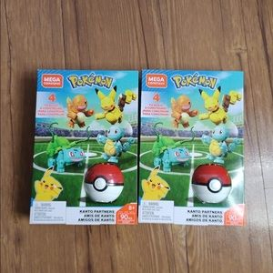 Set of two MEGA Construx Pokemon KANTO Partners